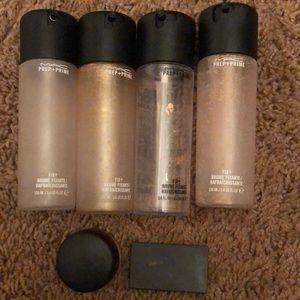 (6) Empty Mac products Fix plus paint pot bundle
